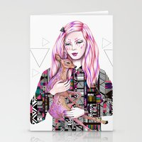kris tate Stationery Cards featuring EMBRACE by Kris Tate and Ola Liola  by Ola Liola