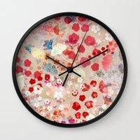 blossom Wall Clocks featuring Blossom by Marta Olga Klara