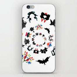 circle of Rorschach test Ink blots ! iPhone Skin