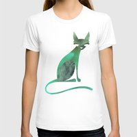 mid century modern T-shirts featuring Mid-Century Feline by a. peterson