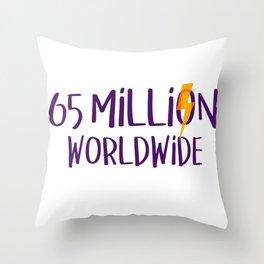 Worldwide Bolt Throw Pillow