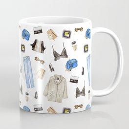 watercolor sketch. woman fashion outfit Coffee Mug
