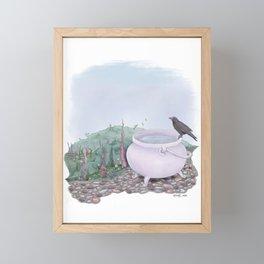 The Witch's Garden - Fantasy Illustration - Halloween - Magic Framed Mini Art Print
