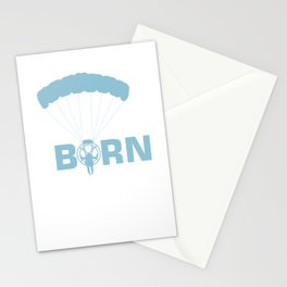 Paragliders Paragliding Extreme Action Sports Born To Fly Paramotor Gift Stationery Cards