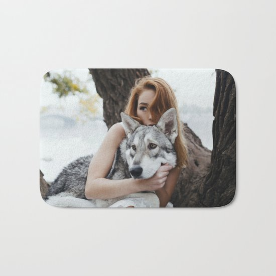 Girl wolf Bath Mat