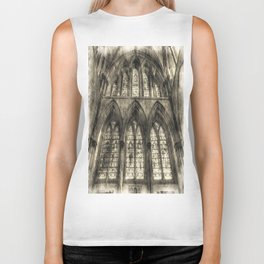 Rochester Cathedral Stained Glass Windows Vintage Biker Tank