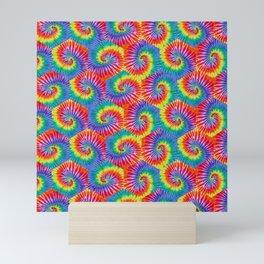 Tie-Dye Hexagon Colorful Pattern Mini Art Print