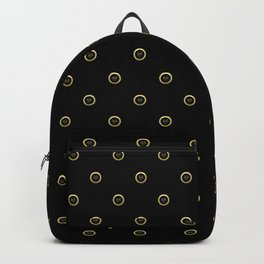 """""""Earth"""" Chinese Calligraphy on Golden Coins Backpack"""