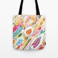 bugs Tote Bags featuring Bugs by Mia Dunton