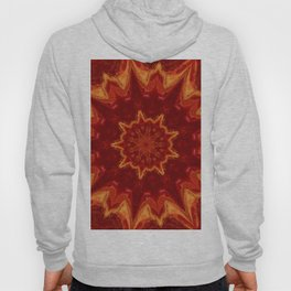 Red Supernova - Abstract Kaleidoscope Art by Fluid Nature Hoody