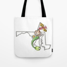 Maryland Mermaid Tote Bag