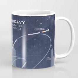 SpaceX Falcon Heavy Spacecraft NASA Rocket Blueprint in High Resolution (dark blue) Coffee Mug