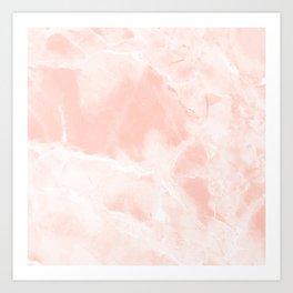 Bright Pink Marble Art Print