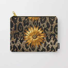 Animal Print Cheetah Triple Gold Carry-All Pouch