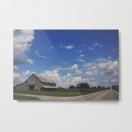 The farms are changing, Indiana farmland Metal Print