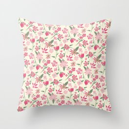 Wild Women in Pale Pinks Throw Pillow