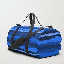 Hazy Blue Stripes Duffle Bag