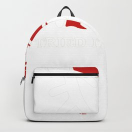 I Tried It Home Science White Backpack