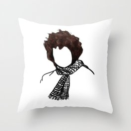 Dylan Rock Icon Silhouette Throw Pillow