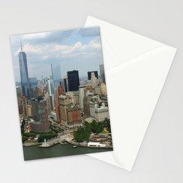 new york city ... manhattan view V Stationery Cards