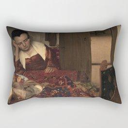 Johannes Vermeer - A Girl Asleep Rectangular Pillow