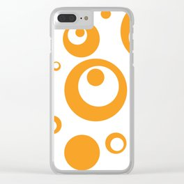 Circles Dots Bubbles :: Marmalade Inverse Clear iPhone Case