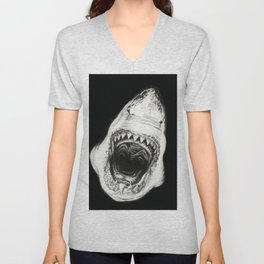 White shark Unisex V-Neck