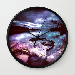 Magical Mountain Lake Colorful Wall Clock