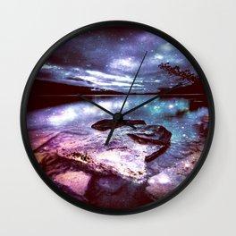 Magical Mountain Lake Colorful Wall Clock