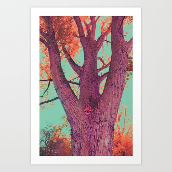 Power tree of love and life Art Print