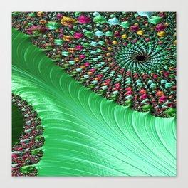 Carnival Green Canvas Print