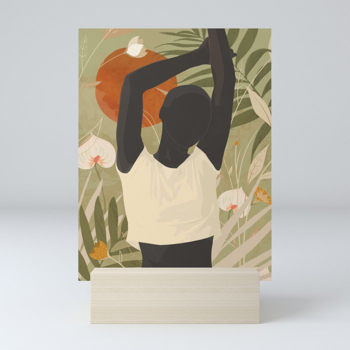Tropical Girl 3 Mini Art Print