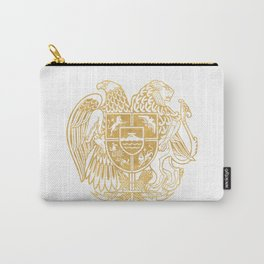 ARMENIAN COAT OF ARMS - Gold Carry-All Pouch