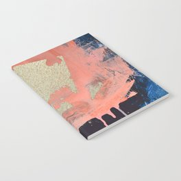 Edge of Reason: a minimal abstract mixed-media piece in pink blue and gold by Alyssa Hamilton Art Notebook