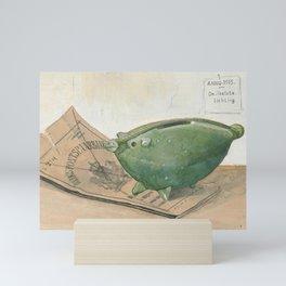 Piggy bank and savings bank book, Frans Everbag, 1915 Mini Art Print