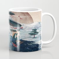 ice Mugs featuring Holiday ice by Tanya_tk