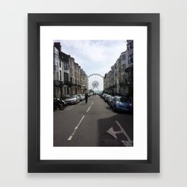 Ferris Wheel in Brighton, England Framed Art Print
