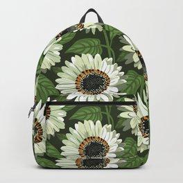Venidium Zulu Warrior Flowers (White Monarch of The Veldt) Backpack