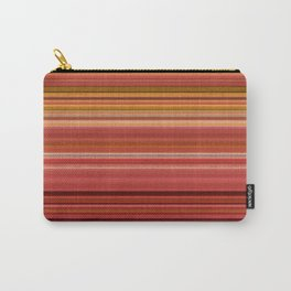 """""""Pink lines burlap"""" Carry-All Pouch"""