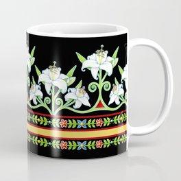 Elizabethan Lily Folkloric Stripe Coffee Mug