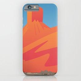 Desert Valley Landscape Scene iPhone Case