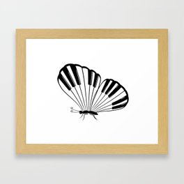 Musical Butterfly Framed Art Print
