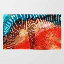 Zebra Love - Art By Sharon Cummings Rug