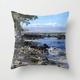 bumpy beach Throw Pillow