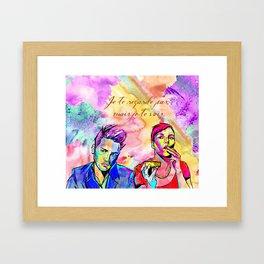 Je te regarde pas Framed Art Print