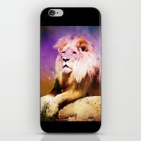 the lion king iPhone & iPod Skins featuring King Lion by SwanniePhotoArt
