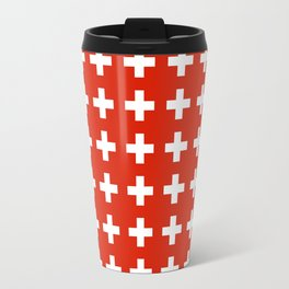 flag of switzerland 2-Switzerland, Alps,swiss,Schweizer,suisse,zurich,bern,geneva Travel Mug