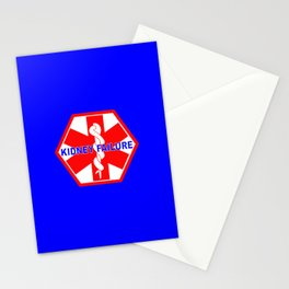 MEDICAL ALERT kidney failure Identification tag Stationery Cards