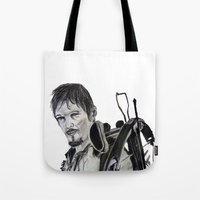 daryl dixon Tote Bags featuring Daryl Dixon by Brittany Ketcham