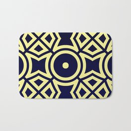 Composition in Texas Yellow and Stratos Blue Bath Mat